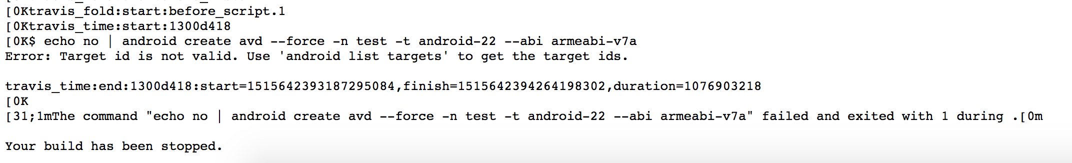 未添加模拟器andorid版本报错信息